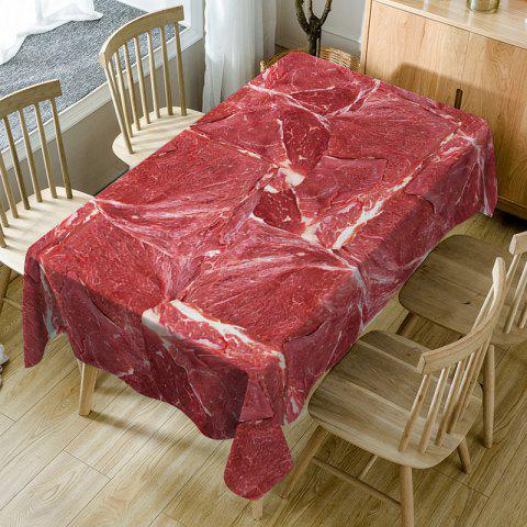Meat Print Waterproof Table Cloth - RED W60 INCH * L84 INCH