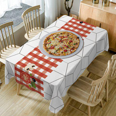 Pizza Plaid Pattern Waterproof Table Cloth - COLORMIX W54 INCH * L54 INCH