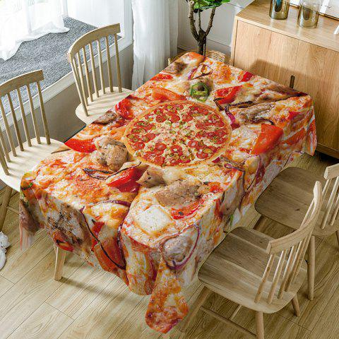 Pizza Print Waterproof Table Cloth - RED W54 INCH * L72 INCH