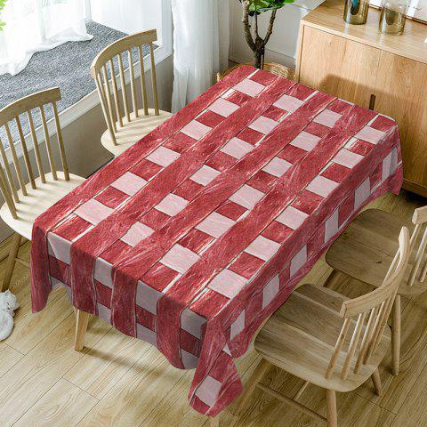 Meat Plaid Print Waterproof Fabric Table Cloth - RED W54 INCH * L54 INCH
