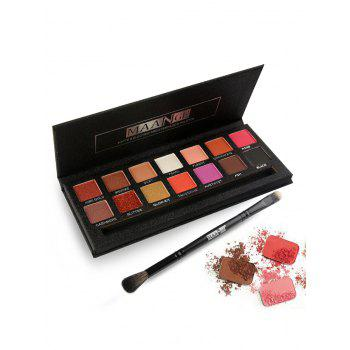 14 Colors Long Lasting Matte Electric Pro Eyeshadow Palette - COLORFUL