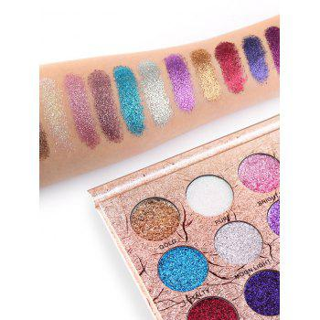 Professional 12 Colors Natural Color Glitter Shimmer Eyeshadow Palette - COLORFUL