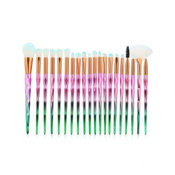 Professional Zircon Pattern Ultra Soft Synthetic Fiber Hair Makeup Brush Set - PINK