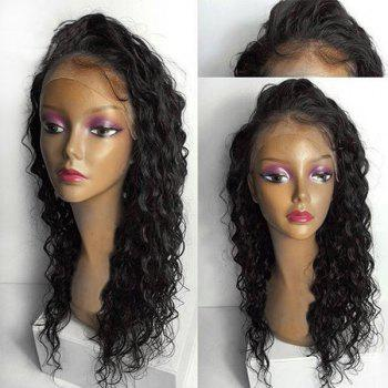 Lace Front Long Free Part Water Wave Synthetic Wig - NATURAL BLACK 24INCH