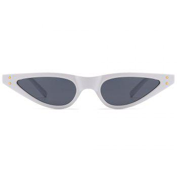 UV Protection Full Frame Sun Shades Sunglasses - WHITE FRAME/GREY LENS