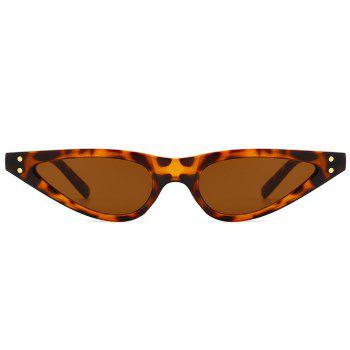 UV Protection Full Frame Sun Shades Sunglasses - LEOPARD/DARK BROWN