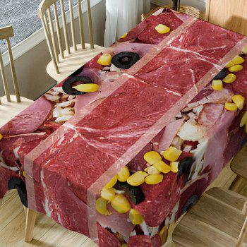 Meat Scattered Corn Kernels Printed Table Cloth - RED W60 INCH * L84 INCH