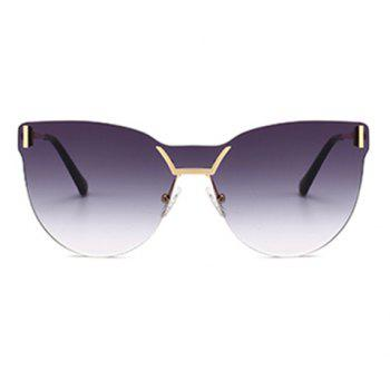 Lentille anti-UV de couleur dégradée One Pieces Sunglasses - gris