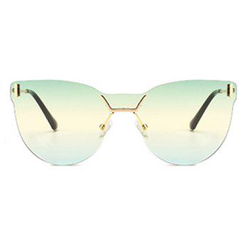 Lentille anti-UV de couleur dégradée One Pieces Sunglasses - LIGHT GREEN