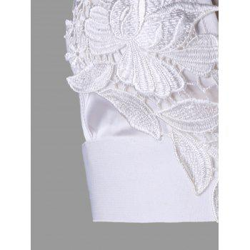 Lace Appliqued Cutout Camisole - WHITE M
