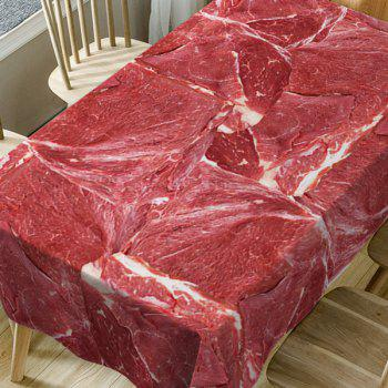 Meat Print Waterproof Table Cloth - RED W54 INCH * L54 INCH