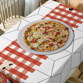 Pizza Plaid Pattern Waterproof Table Cloth - COLORMIX W54 INCH * L72 INCH