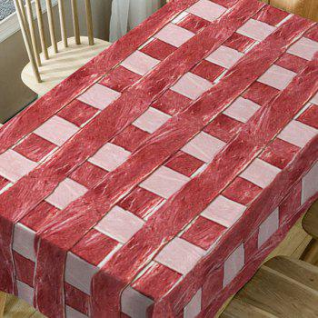Meat Plaid Print Waterproof Fabric Table Cloth - RED W60 INCH * L84 INCH