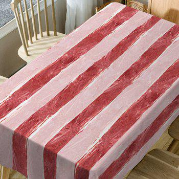 Meat Striped Pattern Waterproof Table Cloth - RED W54 INCH * L54 INCH