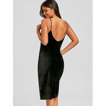 Lingerie Spaghetti Strap Dress - BLACK M