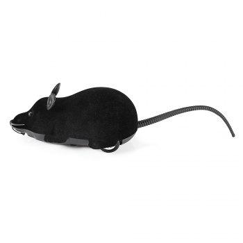 Wireless RC Simulation Tricky Flocking Mouse - BLACK