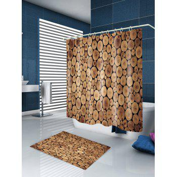 Tree Grain Pattern Waterproof Shower Curtain - WOOD W59 INCH * L71 INCH