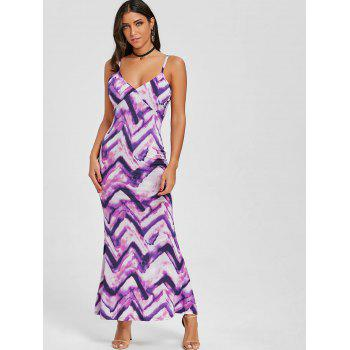 Cami Tie Dye Long Dress - Pourpre XL