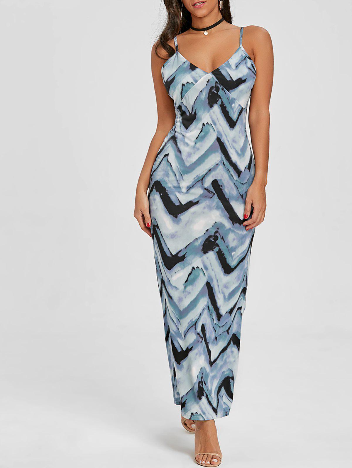 Cami Tie Dye Long Dress - CLOUDY L