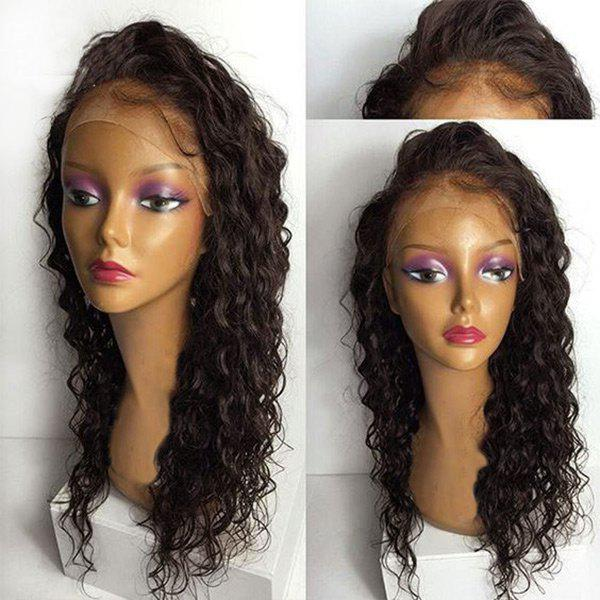 Lace Front Long Free Part Water Wave Synthetic Wig - DEEP BROWN 26INCH