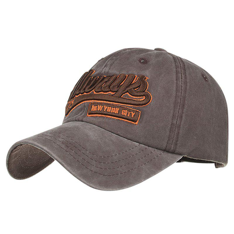 ALWAYS Patern Embroidery Washed Fine Baseball Cap - MOCHA