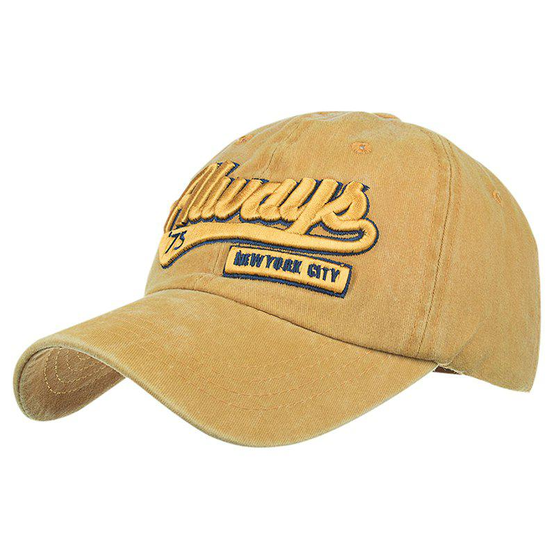ALWAYS Patern Embroidery Washed Fine Baseball Cap - GINGER