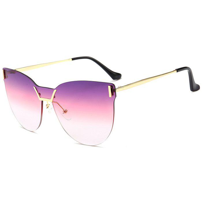 Lentille anti-UV de couleur dégradée One Pieces Sunglasses - Pourpre