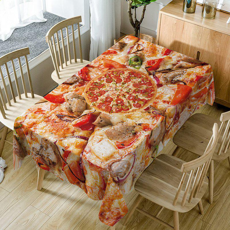 Pizza Print Waterproof Table Cloth - RED W60 INCH * L84 INCH
