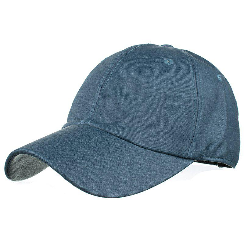 Simple Line Embroidery Magic Sticker Sunscreen Hat - CADETBLUE