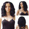 Middle Parting Medium Wavy Synthetic Lace Front Wig - DEEP BROWN 14INCH