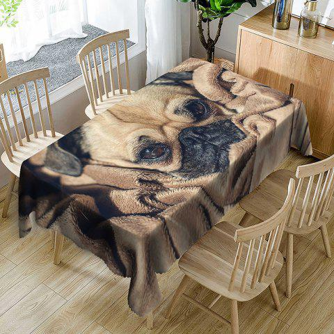 Dog Print Waterproof Table Cloth - BROWN W60 INCH * L84 INCH