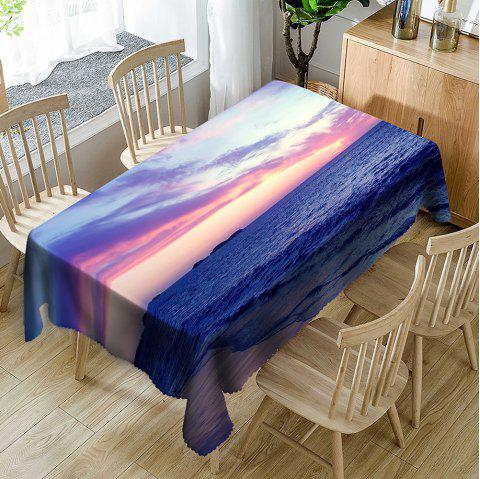 Beach Scenery Pattern Waterproof Table Cloth - COLORMIX W54 INCH * L72 INCH