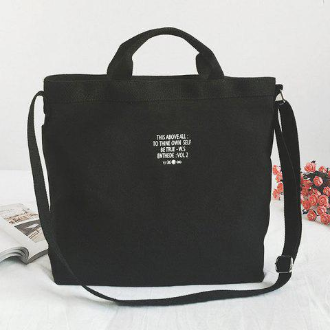 elegant and sturdy package latest style superior performance Letter Canvas Tote Bag with Shoulder Strap