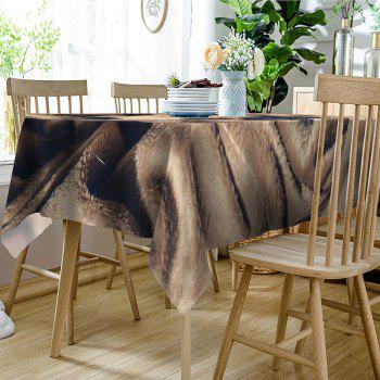 Dog Print Waterproof Table Cloth - BROWN W54 INCH * L72 INCH
