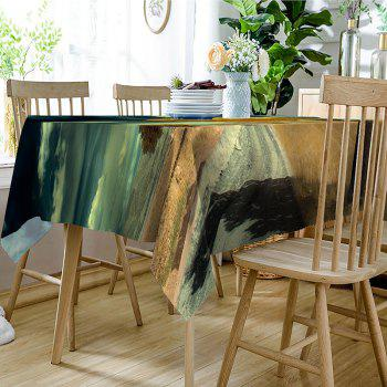 White Cloud Road Fabric Waterproof Table Cloth - COLORMIX W60 INCH * L84 INCH