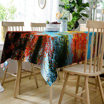 Autumn Sunny Day Trees Pattern Decoration Table Cloth - COLORFUL W54 INCH * L72 INCH