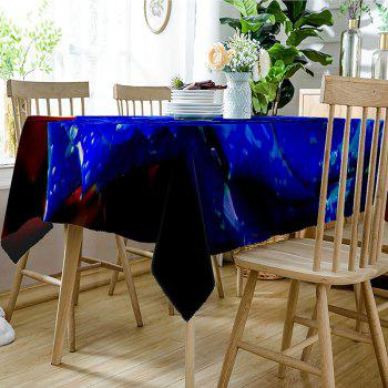 Valentine's Day Rose Pattern Waterproof Table Cloth - ROYAL W54 INCH * L72 INCH