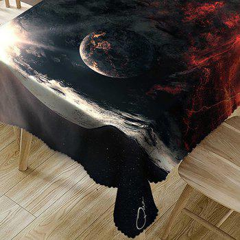 Planet Pattern Waterproof Table Cloth - COLORMIX W54 INCH * L72 INCH