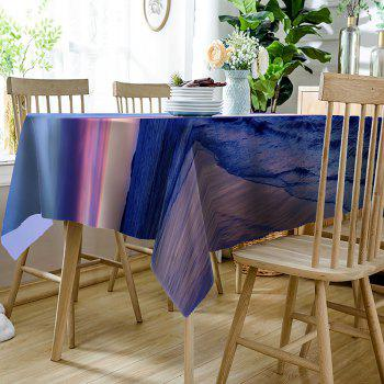 Beach Scenery Pattern Waterproof Table Cloth - COLORMIX W60 INCH * L84 INCH