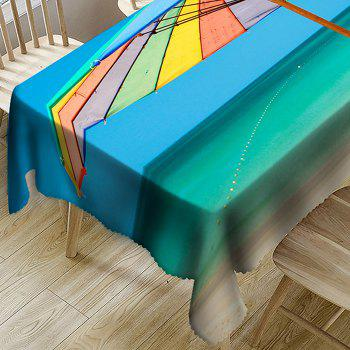 Beach Umbrella Pattern Waterproof Table Cloth - COLORMIX W54 INCH * L54 INCH