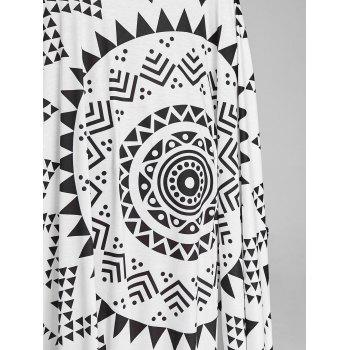 Fringed Monochrome Beach Throw - BLACK ONE SIZE