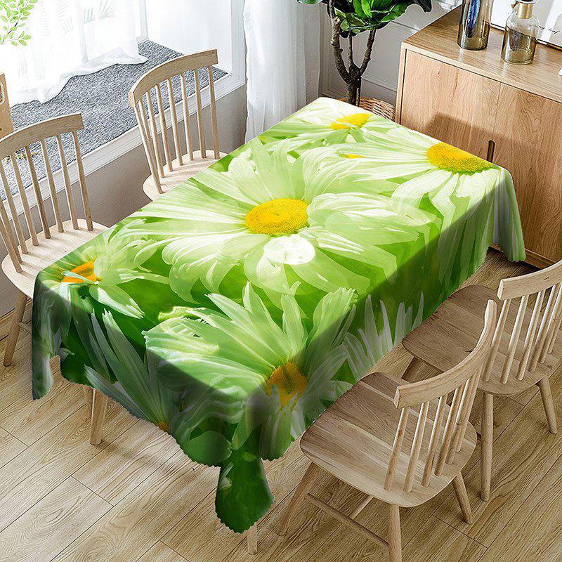 Chrysanthemum Flower Pattern Table Cloth - GREEN W60 INCH * L84 INCH