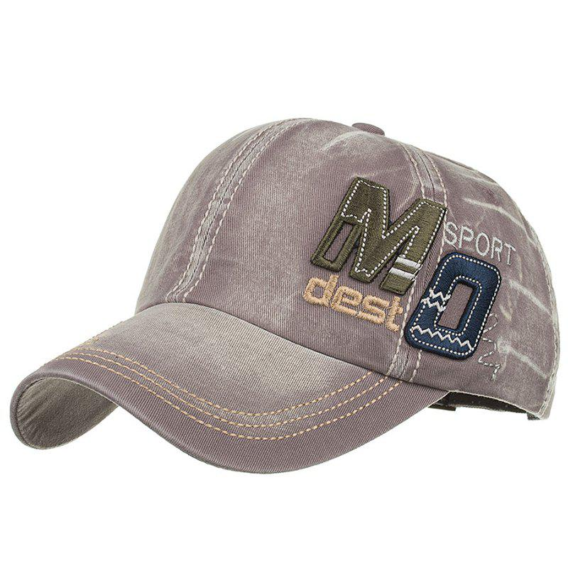 Unique MO Embroidery Adjustable Snapback Hat - GRAY