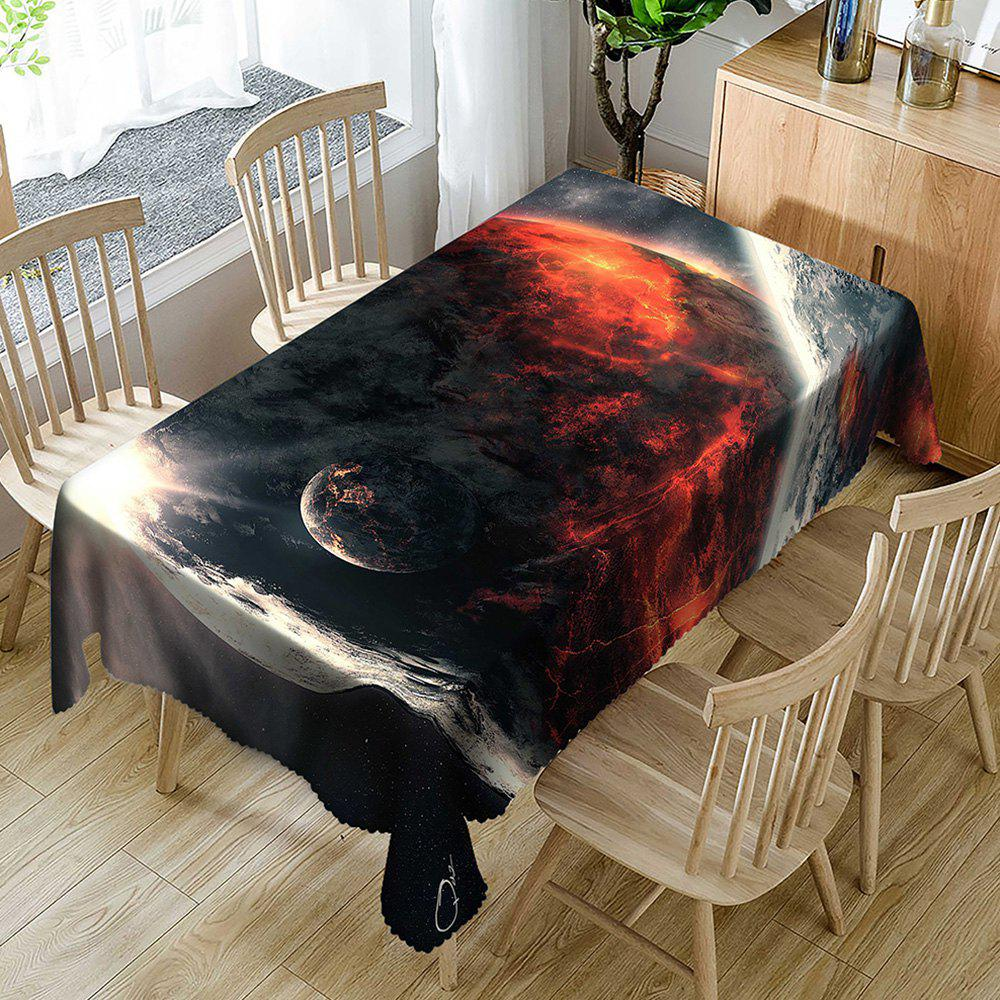 Planet Pattern Waterproof Table Cloth - COLORMIX W60 INCH * L84 INCH
