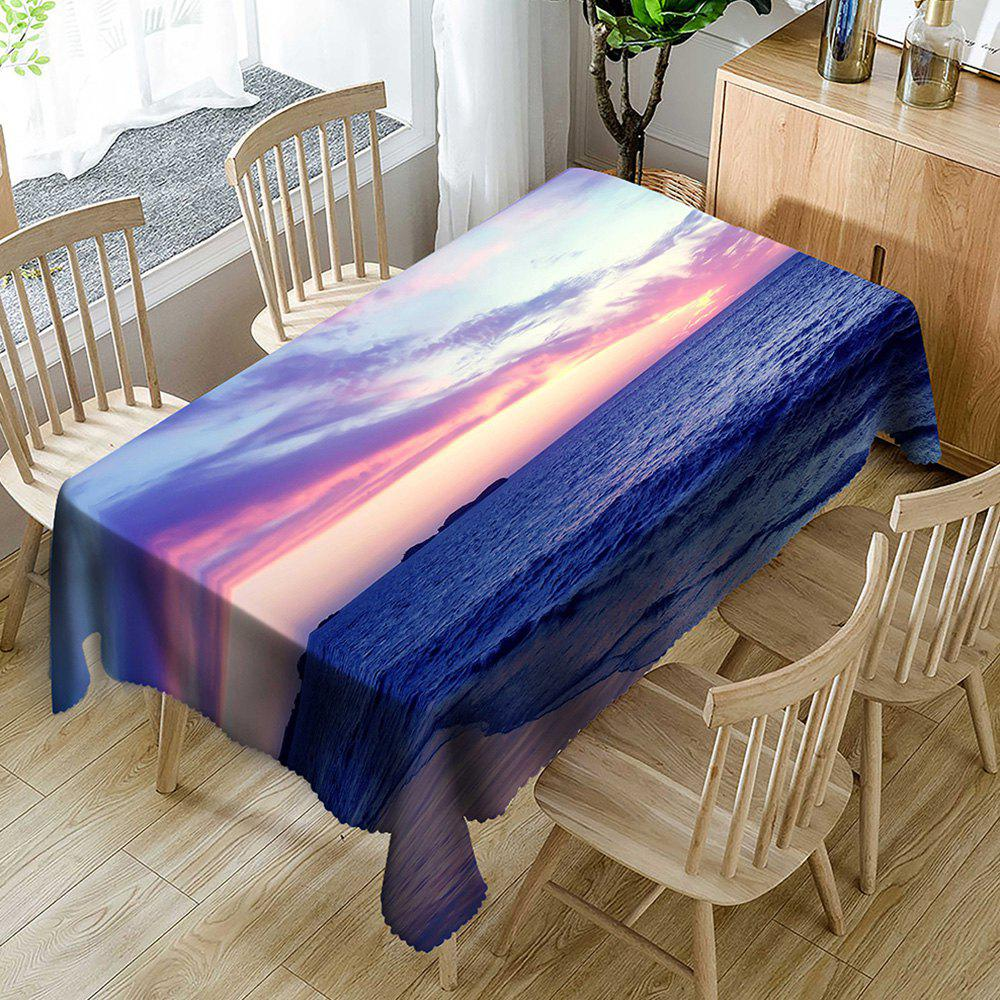 Nappe de Table Imperméable Motif Scène de Plage - multicolore W54 INCH * L72 INCH