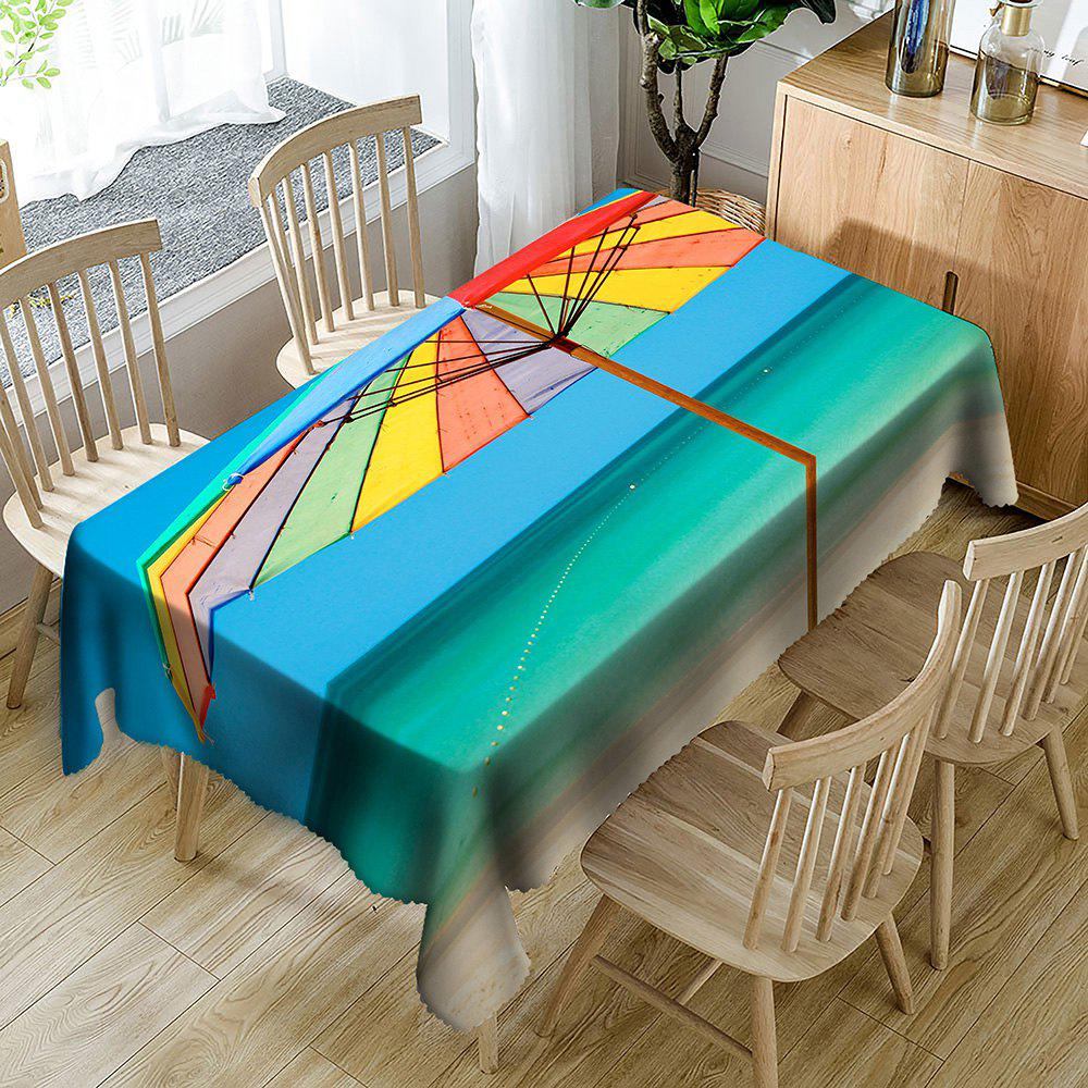 Beach Umbrella Pattern Waterproof Table Cloth - COLORMIX W54 INCH * L72 INCH