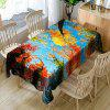 Autumn Sunny Day Trees Pattern Decoration Table Cloth - COLORFUL W54 INCH * L54 INCH
