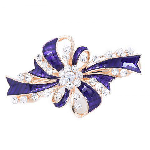Rhinestone Inlay Bowknot Decorated Hair Clip - PURPLE