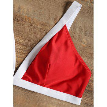 Padded Cutout Bikini Set - RED XL