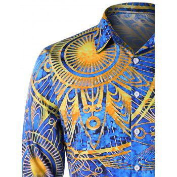 Maya Totem Printed Long Sleeve Shirt - COLORMIX XL